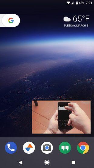 Android O: картинка в картинке