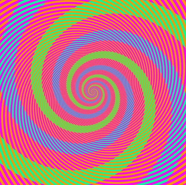 оптические иллюзии: спирали