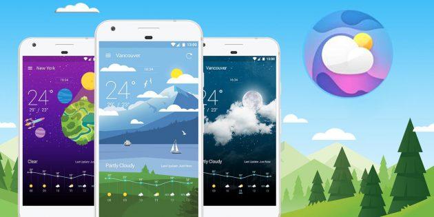Weather Wiz — одно из самых красивых погодных приложений для Android