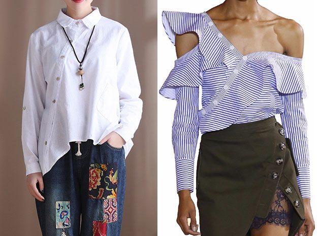Асимметричная рубашка или жакет