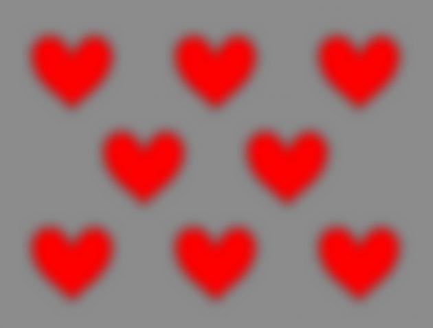 оптические иллюзии: сердца