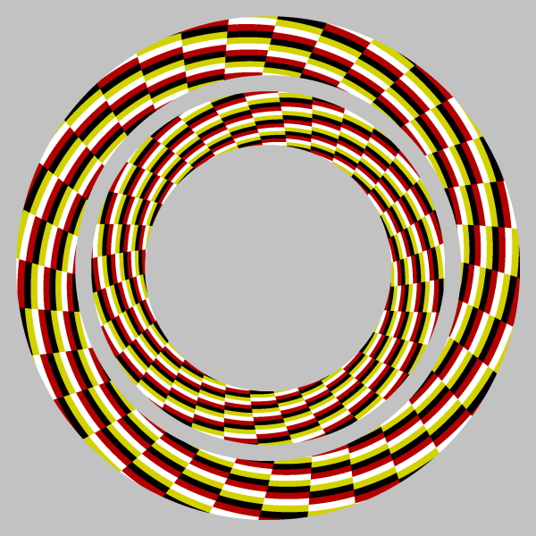 оптические иллюзии: кольца