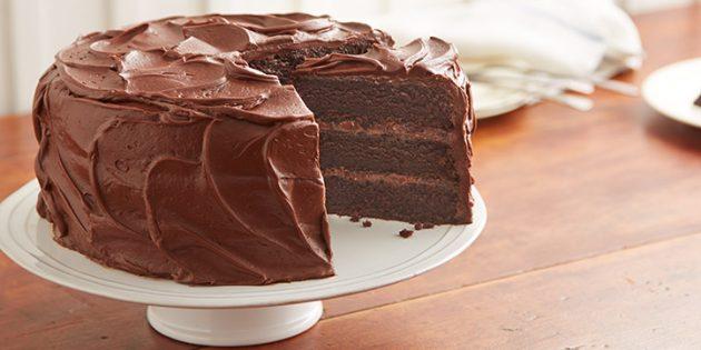 рецепты для вегетарианцев: шоколадный торт