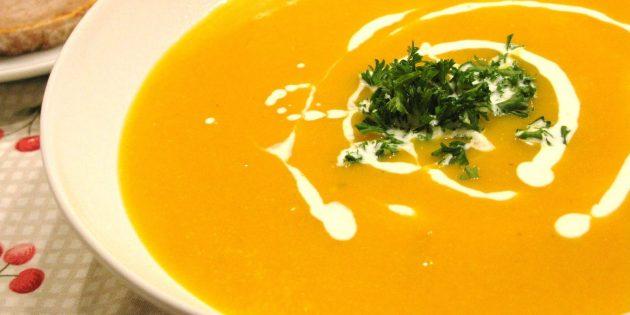 рецепты для вегетарианцев: тыквенный крем-суп