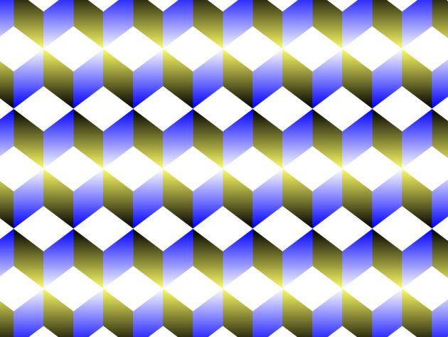 оптичні ілюзії: кубики