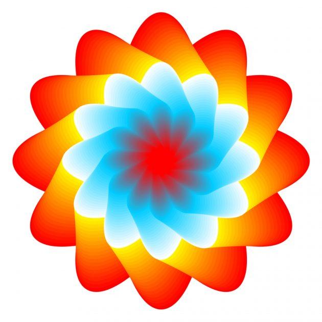 оптические иллюзии: медуза
