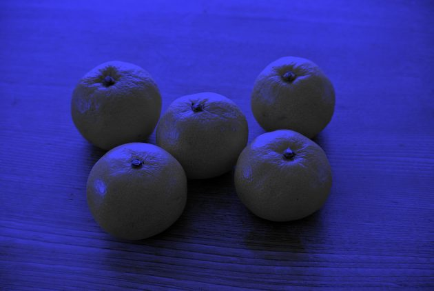 оптические иллюзии: мандарины