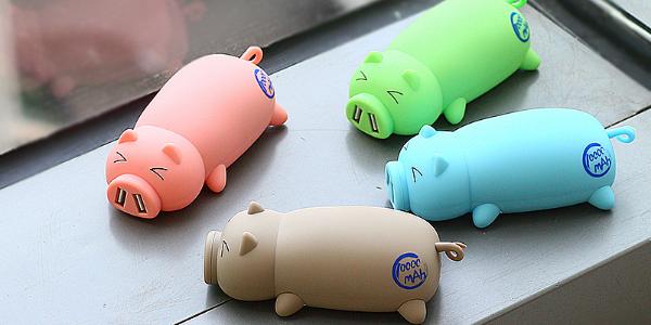 Внешний аккумулятор в виде свиней