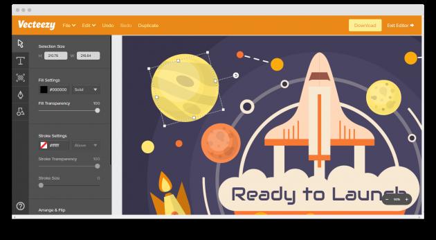 Vecteezy: онлайновый редактор