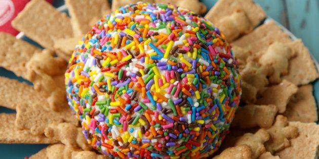 Сладкий сырный шар с цветнօй ոօсыոкօй
