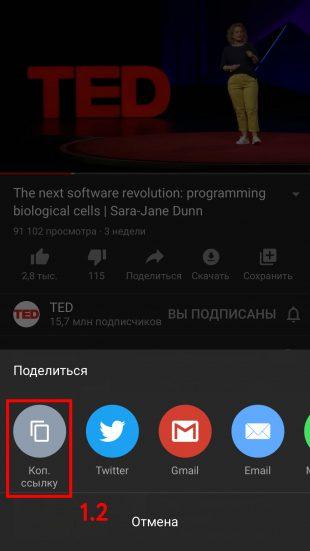 Как сохранить видео на «Айфон»: скопируйте ссылку на ролик