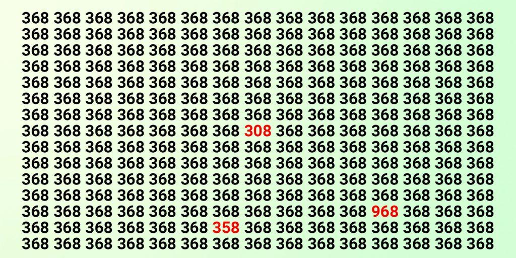 Тест на зоркость с числами: ответ