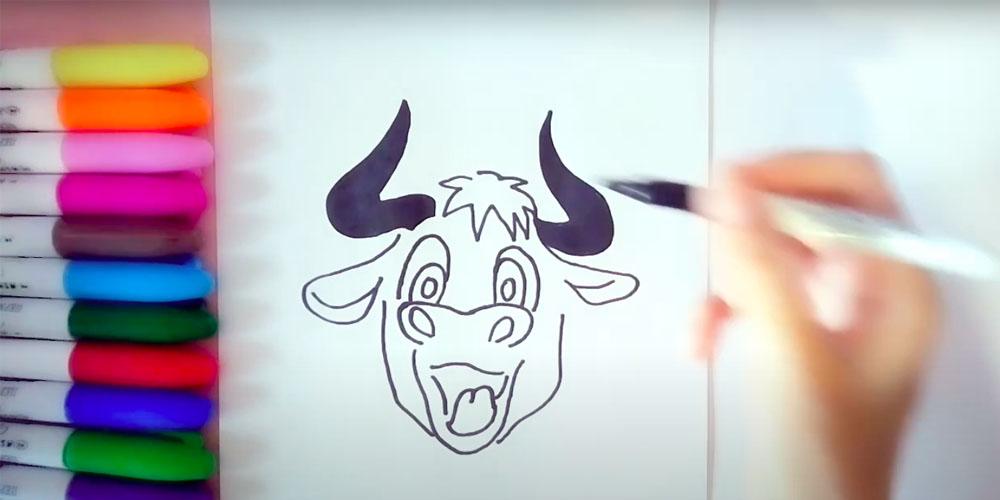 Как легко нарисовать быка или корову - Лайфхакер