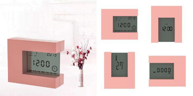 Электронный будильник с календарём и таймером