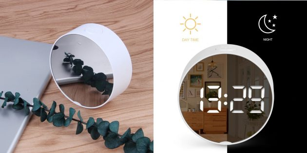 Зеркальный электронный будильник