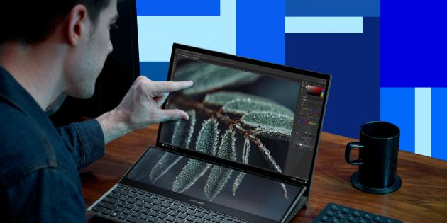 Ноутбук ASUS ZenBook Pro Duo 15OLED: точная цветопередача